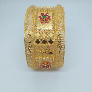 916 HM Gold Antique Kada MJ-BNG-001