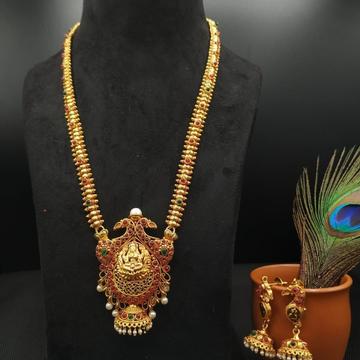 Gold long necklace set 1832