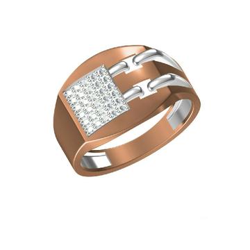Gents Rose Gold Fancy Ring-31313