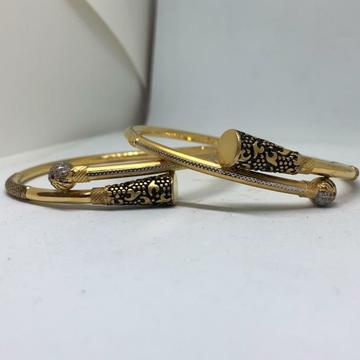 22KT/916 TRADITIONAL GOLD COPPER KADLI BANGLE by