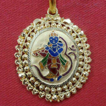 916 Gold Krishna With Om Pendant