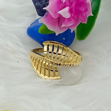 916 GOLD CASTING PLAIN LADIES RING by Ranka Jewellers
