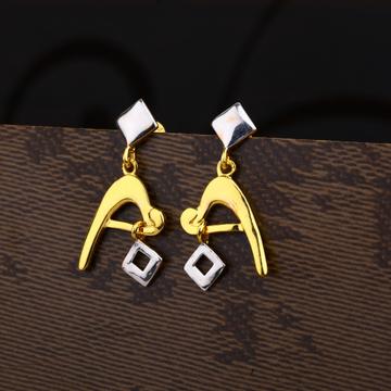 Ladies 22K Gold Casting Delicate Plain Earring -LPE186