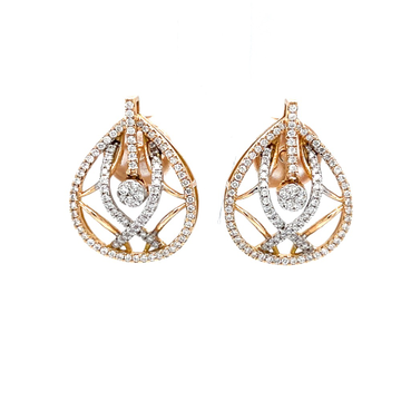 Invidebit diamond earrings in 18k hallmark rose gold 8top101
