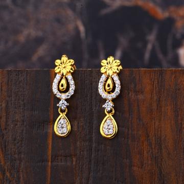 Ladies 22K New Diamond Earring -LFE256