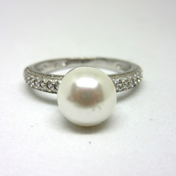925 silver pearl victorion classic design ring sr925-283