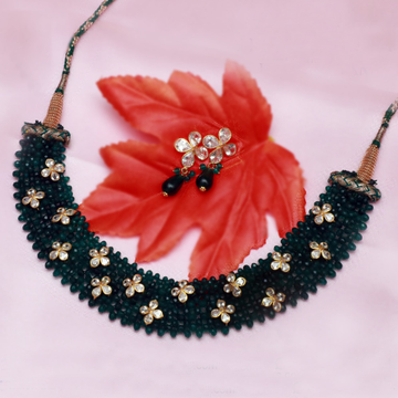 22Kt Gold Designer Necklace Set PJ-N009