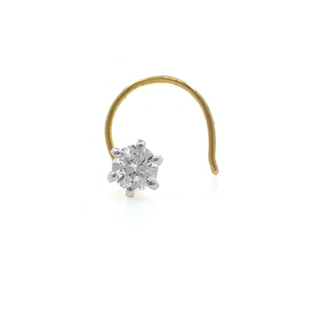 18kt / 750 yellow gold classic single 0.12 cts dia...