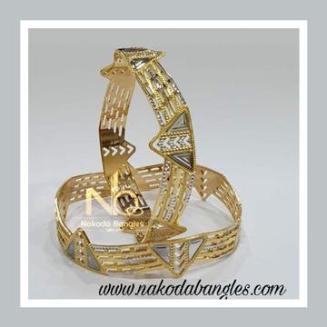 916 Gold CNC Bangles NB - 913