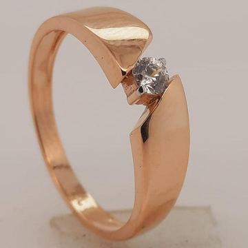 18KT Rose Gold Daily Wear Hallmark Ring  by Panna Jewellers