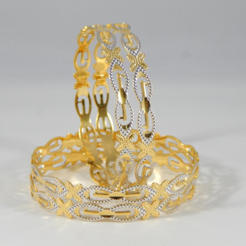 22Kt Yellow Gold Netra Lattice Bangles For Women