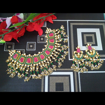 Jadtar necklace set with earrings 1836