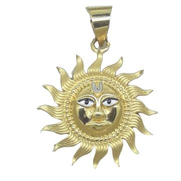 pendant with sun image