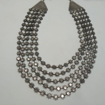 silver Morden Necklace  by