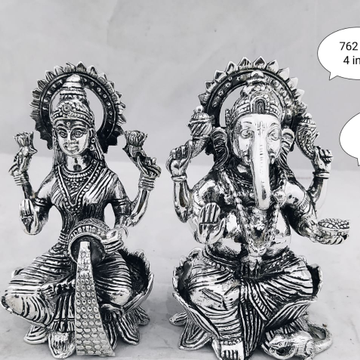 Silver laxmi and ganesh idol jys0020