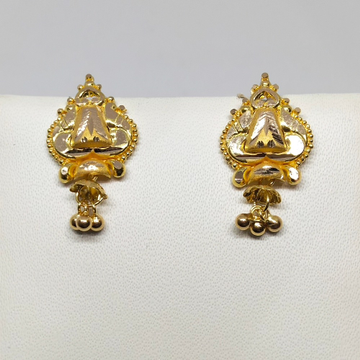 18KT gold designer earring dj-e017