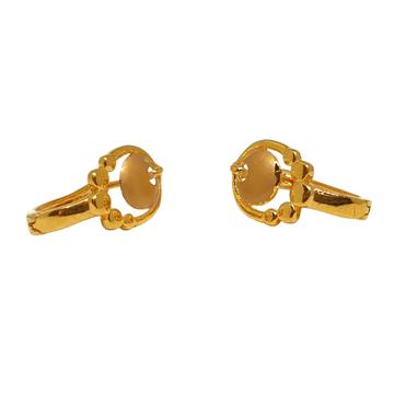 18K Plain Gold Designer Earrings MGA - BLG0557