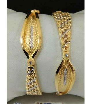 White Gold Nakshi Dijain Bangle by
