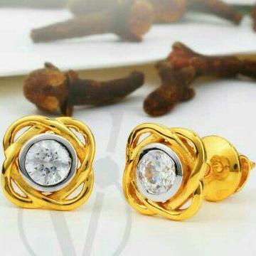 18kt fancy Singal Stone Gold Tops STG -0107