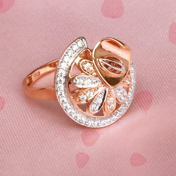 22KT Rose Gold Designer Ring For Wedding PJ-R025