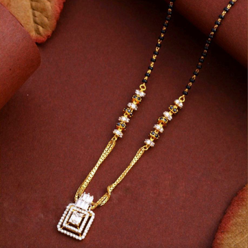 22KT/ 916 Gold fancy square pendant mangalsutra fo... by