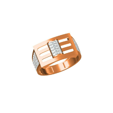 Exclusive Fancy 18Kt Gent's Wear Rose Gold Ring-31328