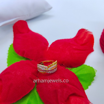 916 gold colourful ring RGG0118