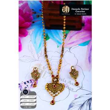 916 Gold Antique Long Necklace Set DKG-0009