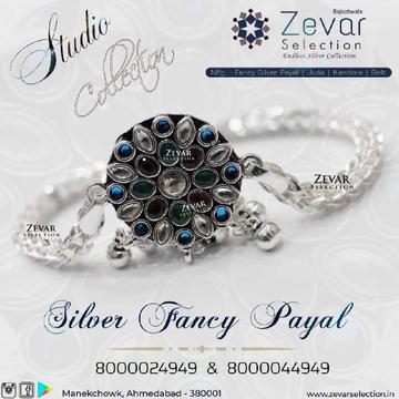 Silver Jaipuri Concept Payal