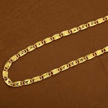 916 Gold Nawabi Plain Mens Chain-MNC15