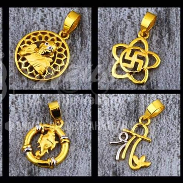 Ganpati om gold pendant