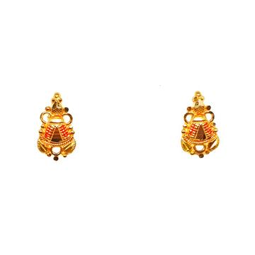 22K Gold Fancy Earrings MGA - BTG0345