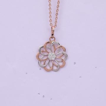 18 carat gold real daimonds ladies pendants RH-LP971