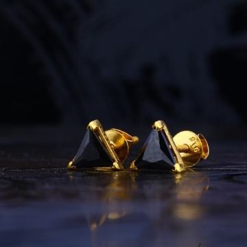 22 carat gold color solitare earrings RH-LE722