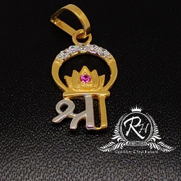 22 carat gold shree name antic pendal RH-PL315