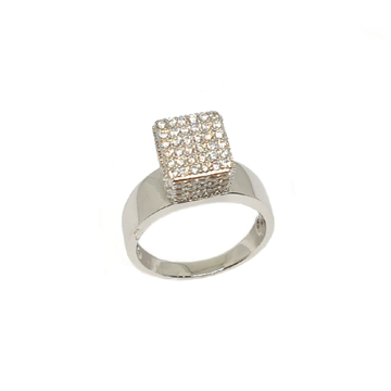 925 Sterling Silver Square Shaped Designer Ring MGA - LRS3511