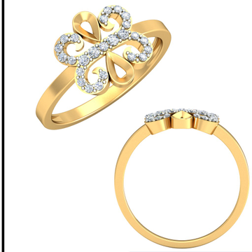 22KT Yellow Gold Celestina Ring For Women