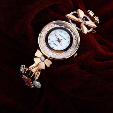 Diamond Gold Ladies Watch-RLW36