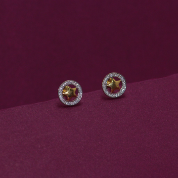 22KT Hallmarked Star Earring by Simandhar Jewellers