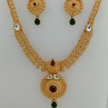916 gold antique jadtar short set by Vinayak Gold