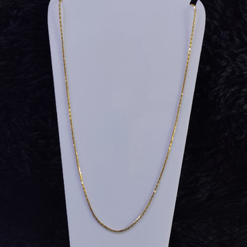 22KT/916 Yellow Gold Cable Chain For Unisex