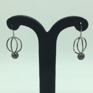 PearlSilverEar HangingsJER0106