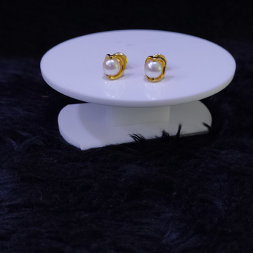 22KT/916 Yellow Gold Callie Pearl Earrings For Women