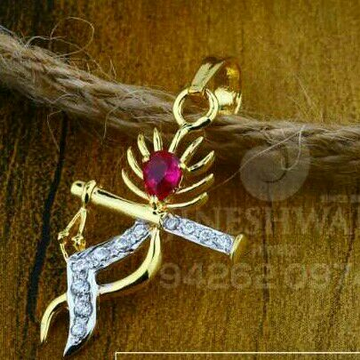 18kt Krishna Design Cz Gold Fancy Pendant