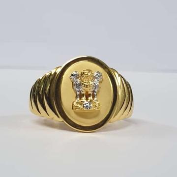 22Kt Gold Ashok Stambh Design ring for Men