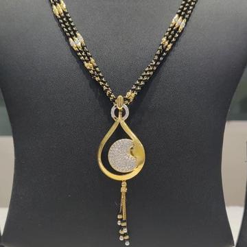 916 Hm Gold Mangalsutra Daliy Wear RH-GM045