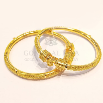 18kt gold bangle gbg60