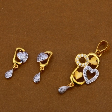 22 carat gold ladies pendants set RH-PS711