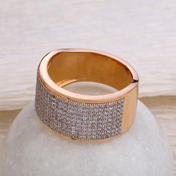 750 Rose Gold Classic  Hallmark Men's  Ring RMR56