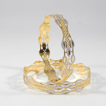 22KT Gold Rhodium Cutting Bangles For Women